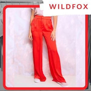 🆕 NWT WILDFOX Annalise Pants (Red)